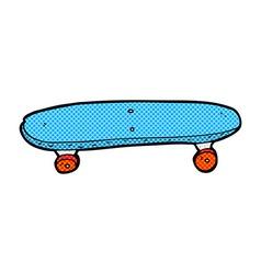 comic cartoon skateboard vector image