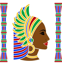 african woman profile vector image vector image