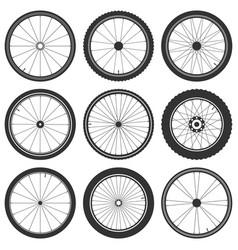 Bicycle wheel symbol bike rubber mountain vector
