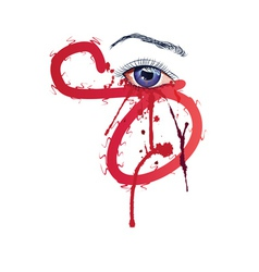 Eye with blood2 vector