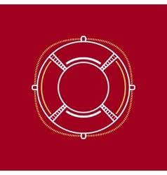 Lifebuoy Line Style Design vector image