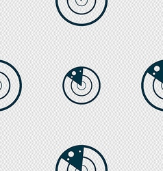 radar icon sign Seamless abstract background with vector image