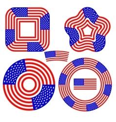 American Flag Design Elements vector image vector image