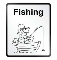 Fishing Information Sign vector image