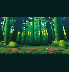 horizontal seamless background with forest vector image vector image