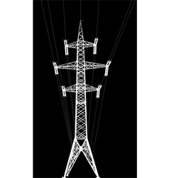 power transmission tower with wires vector image vector image