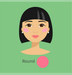 woman face type round vector image vector image