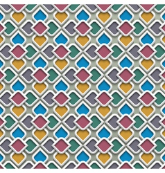3d colored seamless pattern in islamic style vector