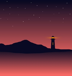 Abstract background sea scenery with lighthouse vector