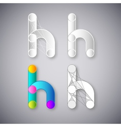 Abstract Combination of Letter H vector image