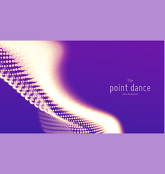 Abstract violet particle wave points array vector