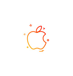 apple icon design vector image
