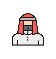 Arabian man in traditional national dress bedouin vector
