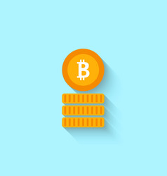 bitcoin sign for internet money crypto currency vector image