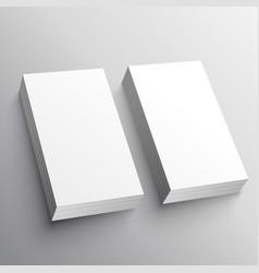 Blank business card mockup presentation design vector