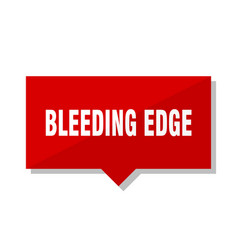 Bleeding edge red tag vector