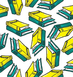 books pattern vector image