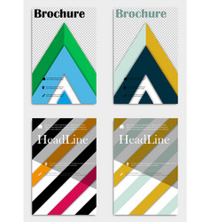 Brochure design template abstract triangles vector