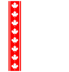 Canadian flag symbolism ribbon red leaf frame vector