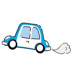 cartoon cars truck transport vector image