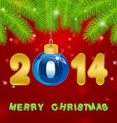 Christmas gold New Year background vector