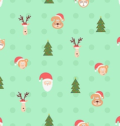 Christmas team pattern vector image