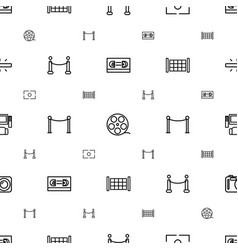 Cinema icons pattern seamless white background vector