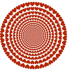circular pattern hearts vector image