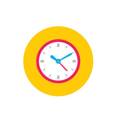 Clock watch - concept colored icon in flat graphic vector