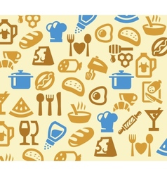 color kitchen vector image