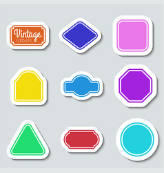 color vintage labels set frames for design vector image