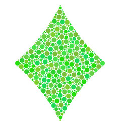 Diamonds suit collage of dots vector