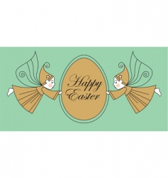 Easter egg with elves vector image