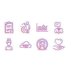 Employee doctor and metro subway icons set money vector