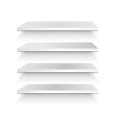 Empty white shelf vector