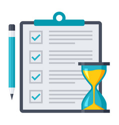 exam or test icon vector image
