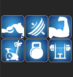 Fitness signs set vector image