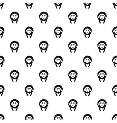 front face sheep pattern seamless vector image