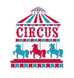 fun fair circus or carnival isolated icons merry vector image