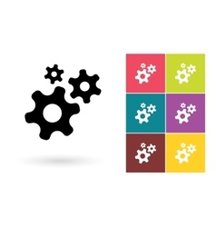 Gear icon or gear symbol vector image