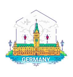 germany - modern line travel vector image