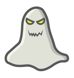 Ghost filled outline icon halloween and scary vector