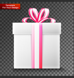 gift box on transparent background vector image