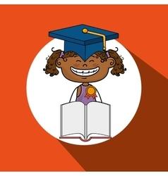 girl student book cap vector image