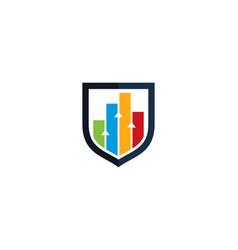 graph shield logo icon design vector image
