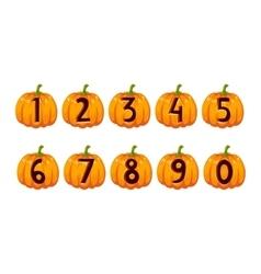 Halloween font alphabet set vector image