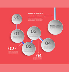 infographics templates working and developing vector image