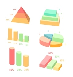 Isometric 3d charts layers graphs and vector image