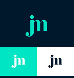 j and m letters monogram combined vector image