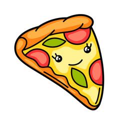 Kawaii pizza vector